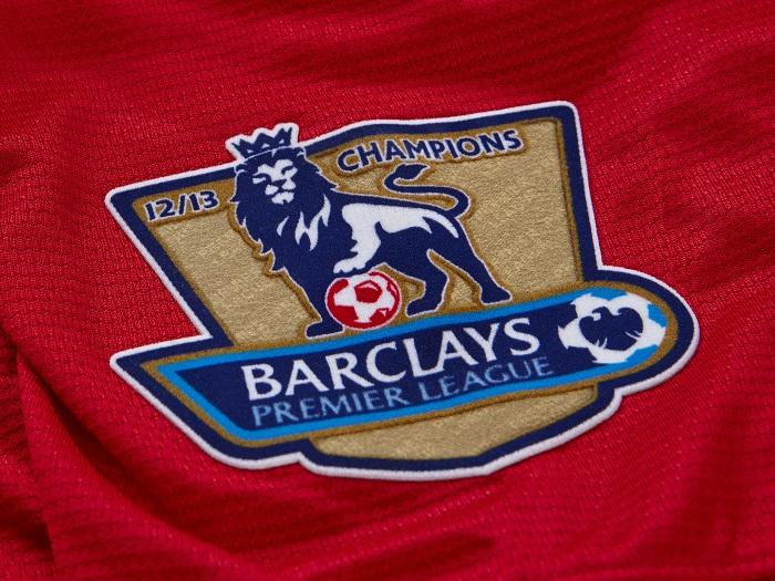 Premier League Champs badges Man Utd home