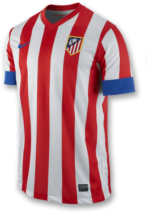 Atletico de Madrid home jersey 2012