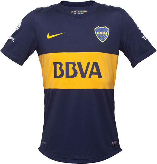 Boca Juniors home jersey 2012