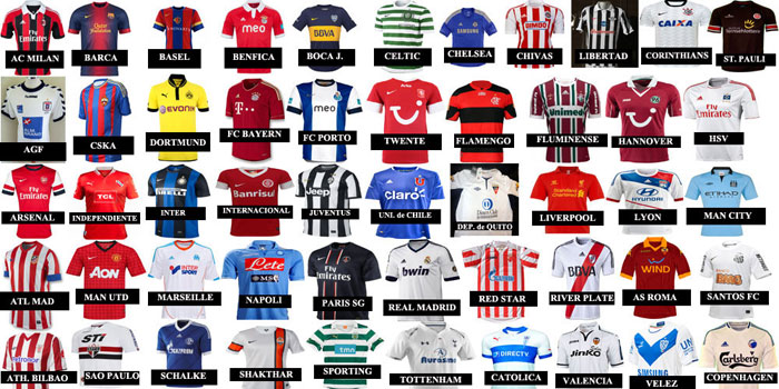 Jersey of the year 2012 labels