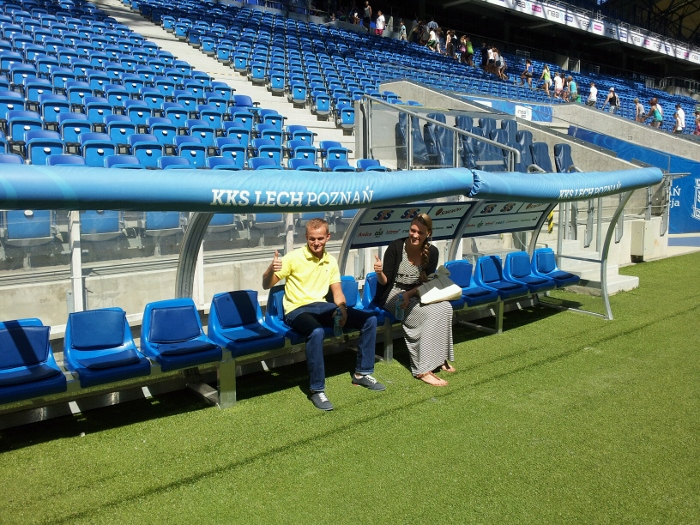 Lech Poznan stadium the bench!