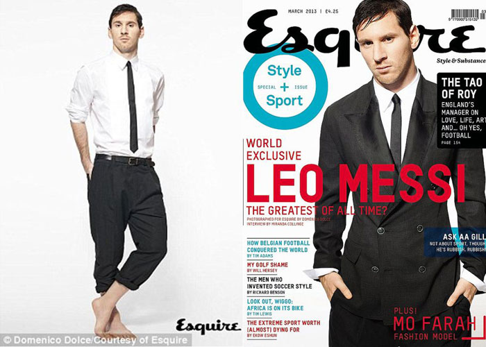 Leo Messi cover Esquire