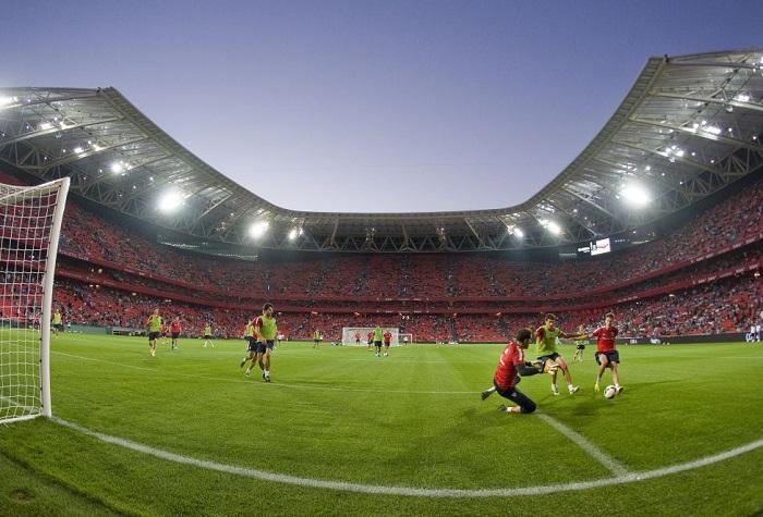 El Nuevo San Mames estadio en Bilbao