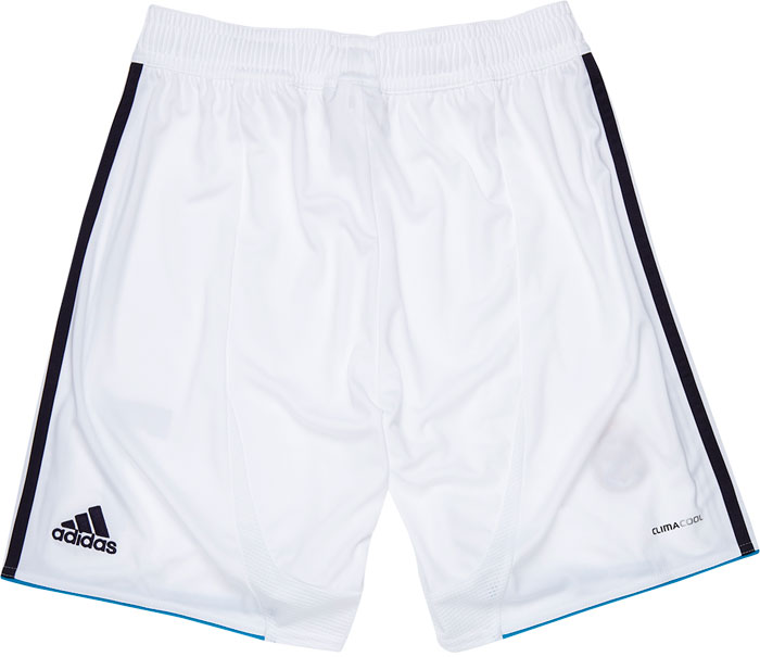 Real Madrid home shorts backside