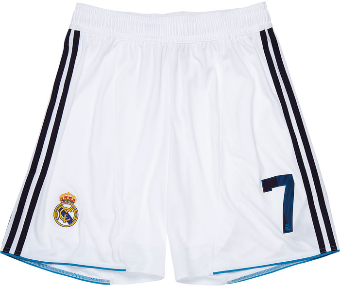 Real Madrid home shorts 12-13