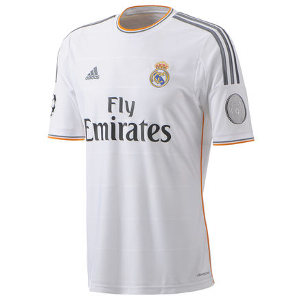 Real Madrid UCL home jersey UEFA honors badge