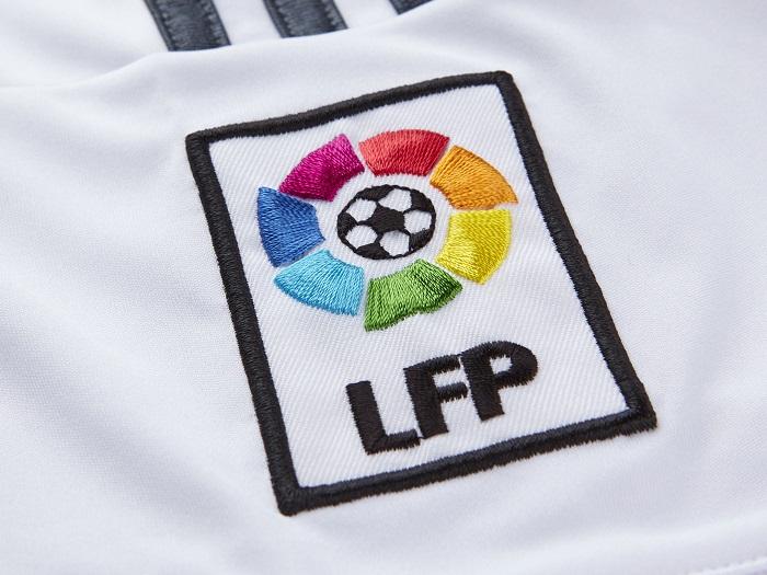 Real Madrid home jersey LFP sleeve badge