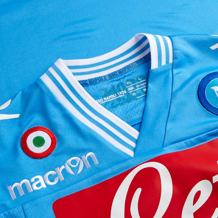 Napoli home jersey Coppa Italia badge