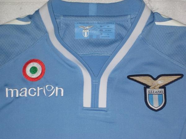 Lazio home jersey 2012/13 chest