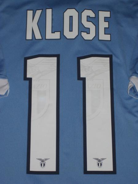 Lazio home printing Klose 11 details
