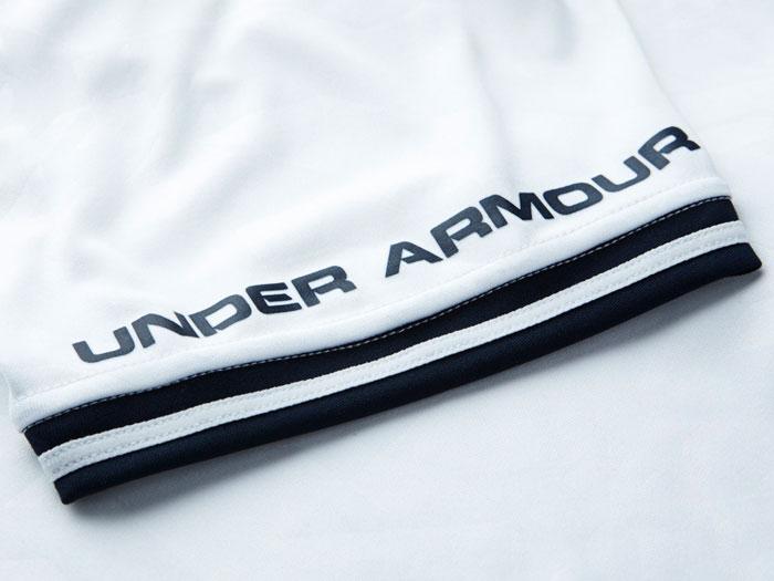 Tottenham home jersey sleeve logo UA