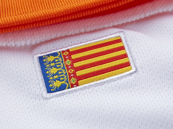 Valencia CF neck from behind flag