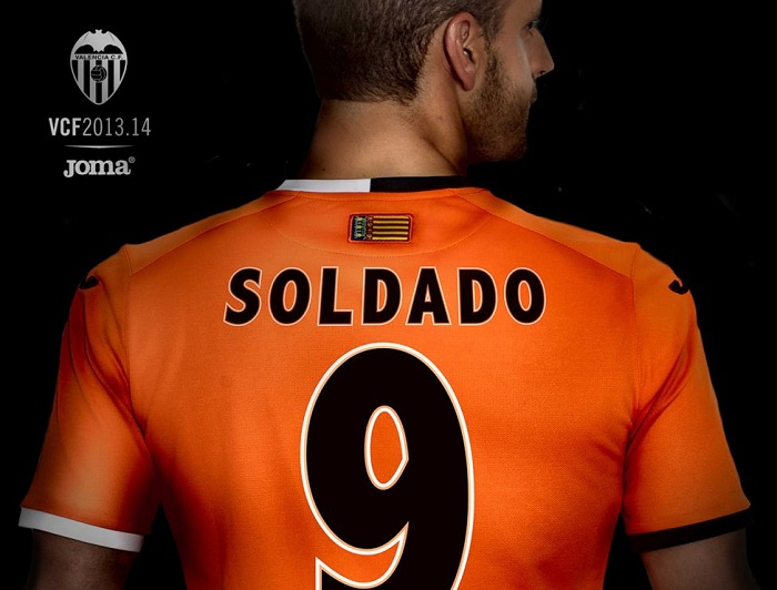 Valencia name and number kit 13-14