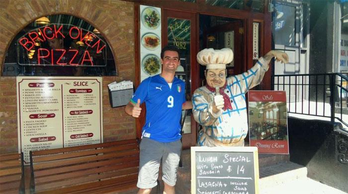 Italy home jersey + Italian pizza