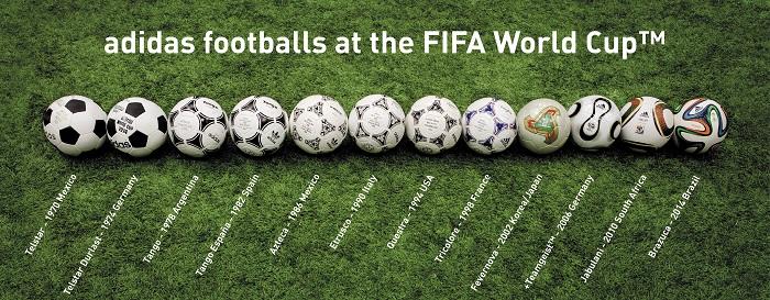 Adidas World Cup match ball history 1970-2014