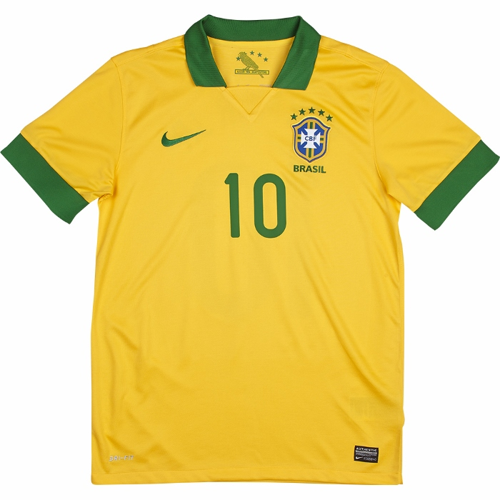 Brazil home jersey number 10