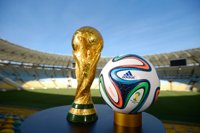 World Cup trophy 2014 and Brazuca
