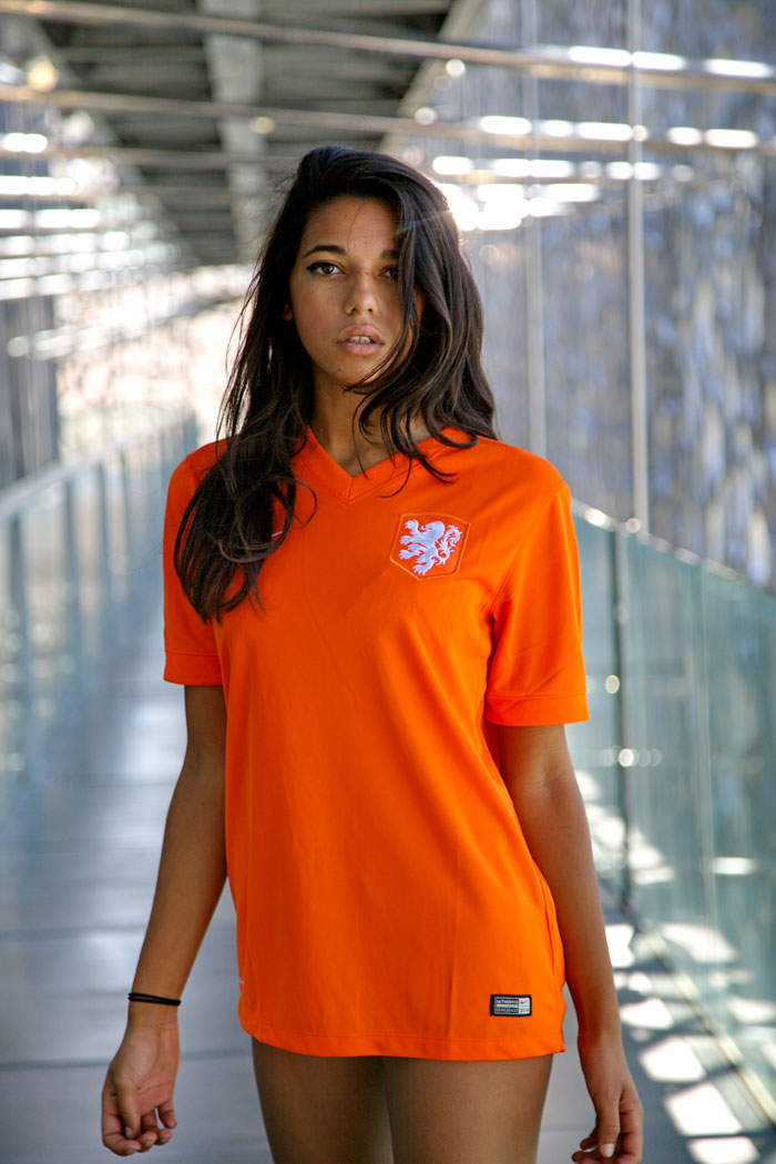 Holland home jersey World Cup close-up