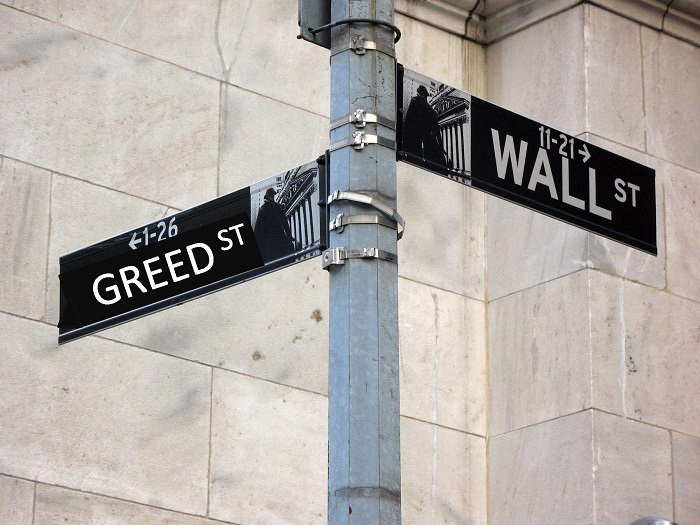 Wall Street and Greed meet