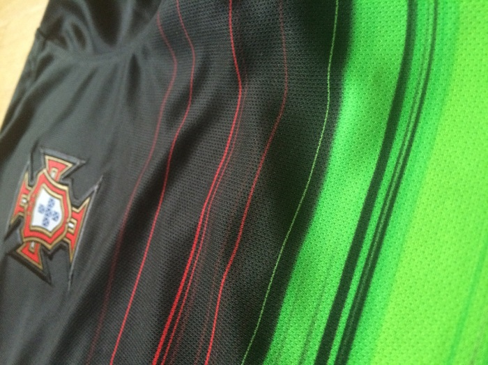 Portugal away kit detail