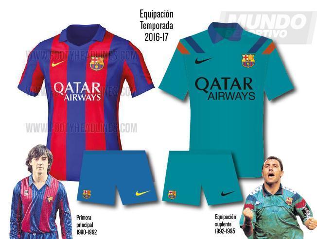 FC Barcelona home and away kit 16/17