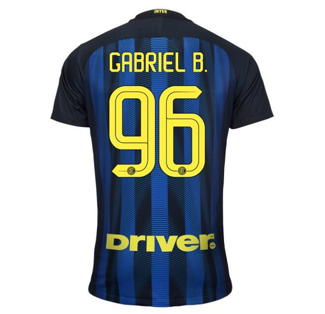 Gabigol 96 Inter home jersey
