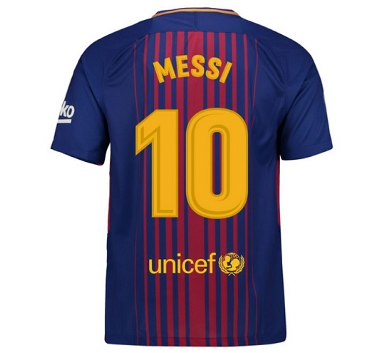 Barcelona home player jersey Messi 10