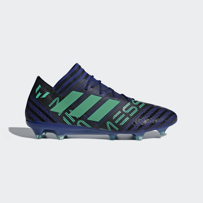 Messi cleats 3 stripes green
