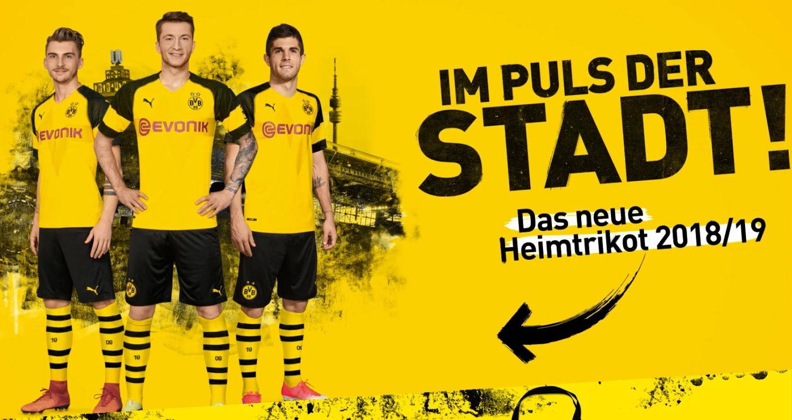 Dortmund home kit 2018/19