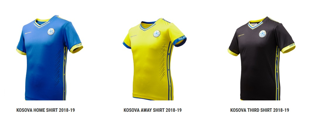 Kosovo football shirts